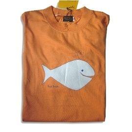 【西班牙 Fine】日本制《Paul Smith》 100 %棉 淺橘小鯨魚男童T-shirt (730700)