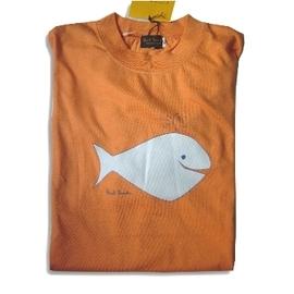 【FINE】日本制《Paul Smith》 100 %棉 淺橘小鯨魚男童T-shirt (730700)