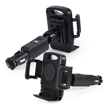 GH016 多功能點煙器車架(USB充電埠x2)
