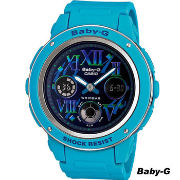 CASIO Baby-G 少女時代 時尚運動錶 BGA-150GR-2B 藍