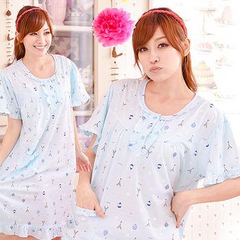 【MFN】愛戀巴黎棉質荷葉邊洋裝(2色)