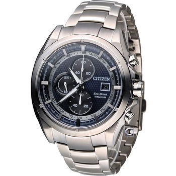 星辰 CITIZEN 金牌特務超級鈦計時腕錶 CA0551-50L