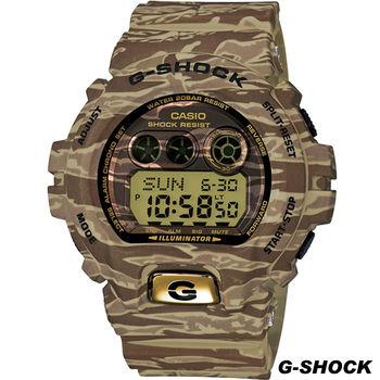 G-SHOCK 叢林 綠x金 迷彩運動時尚錶 GD-X6900TC-5