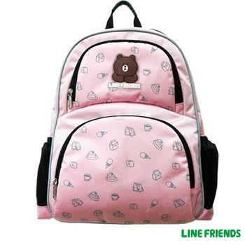 【LINE FRIENDS】MIT減壓護脊書背包 (粉_無辜熊大)