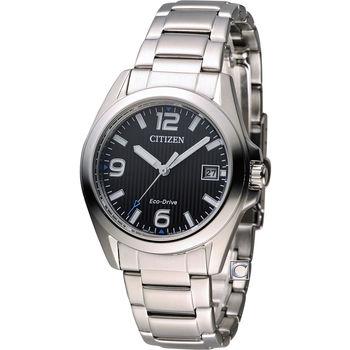 CITIZEN 星辰 光動能優雅時尚腕錶 FE6030-52E 黑