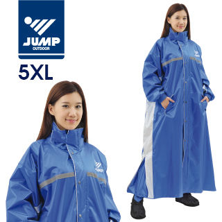 【JUMP】飄美前開連身休閒風雨衣(5XL)