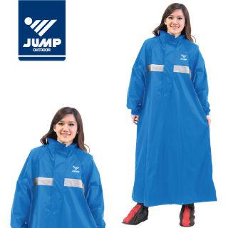 【JUMP】太空夜光反光前開連身休閒風雨衣(2XL~4XL)