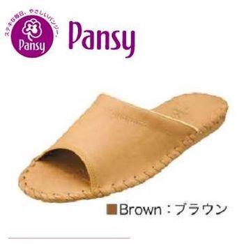 【PANSY】室內女士拖鞋9505-咖啡色