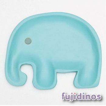 Fujidinos【PETITS ET MAMAN】兒童用造型餐盤(彩色/L)小鴨(黃色)