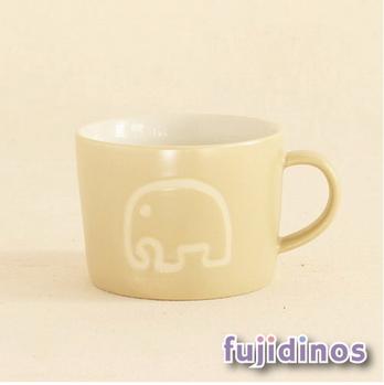 Fujidinos【PETITS ET MAMAN】兒童用馬克杯(大象)