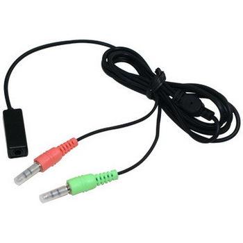 順悅 3.5mm插針 耳機連接麥克風轉接線