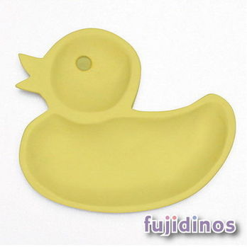 Fujidinos【PETITS ET MAMAN】兒童用造型餐盤(彩色/S)小鴨(黃色)