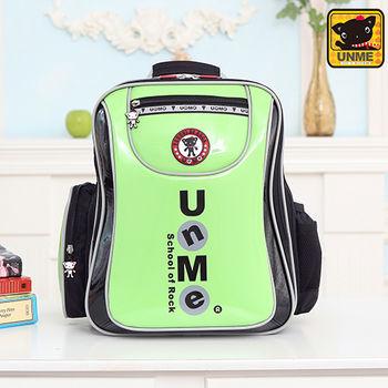 【UNME】中高年級 低調LOGO護脊書包(綠色3234)