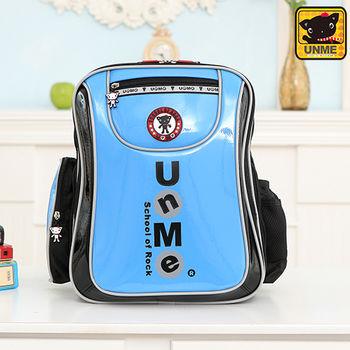 【UNME】中高年級 低調LOGO護脊書包(水藍3234)