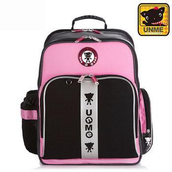 【UNME】中高年級適用*多隔層護脊書包(粉色3218)