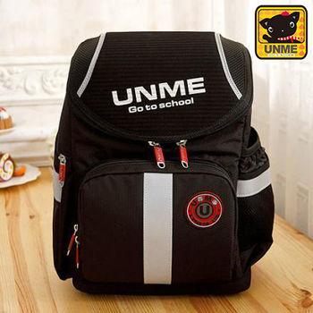 【UNME】輕量日系-人體工學護脊書包(黑色3071)