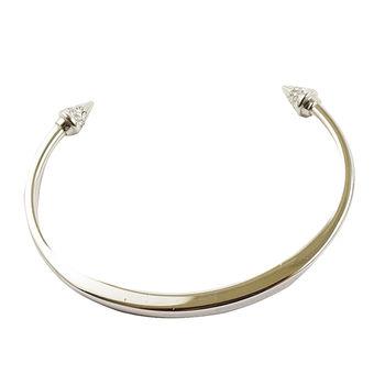 【VITA FEDE】施華洛世奇鑲鑽錐型鉚釘細手環(銀)