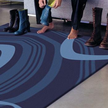 【范登伯格】戰神炫藍手工立體剪花地毯/門墊/踏墊/玄關墊/床邊毯200x290cm