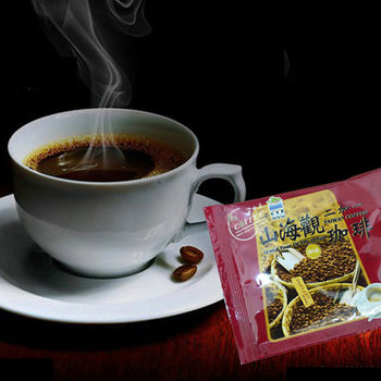 《山海觀咖啡莊園》二合一即溶咖啡50入(散裝)