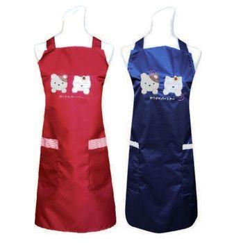 日式可愛夥伴口袋圍裙(藍/紅)二入任組C593
