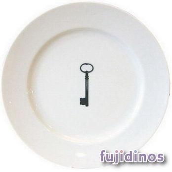 Fujidinos【La Nostalgia】簡約風陶瓷餐盤(鑰匙)