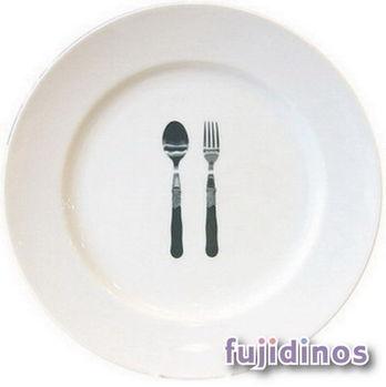 Fujidinos【La Nostalgia】簡約風陶瓷餐盤(刀叉)
