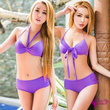 【Sexy Cynthia】愛戀紫系二件式鋼圈比基尼泳裝組