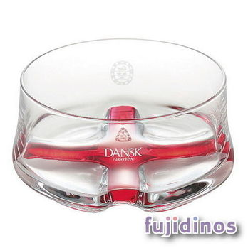 Fujidinos【DANSK】晶透質感玻璃碗(紅色)