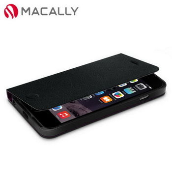 【Macally】iPhone 6Plus(5.5)側翻可站立式皮套-黑(FOLIOP6LB)