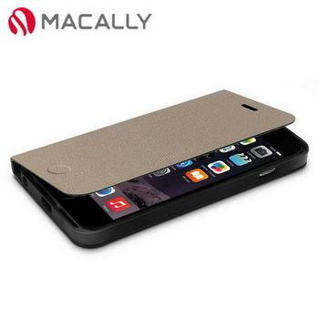 【Macally】iPhone 6Plus(5.5)側翻可站立式皮套-棕(FOLIOP6LT)