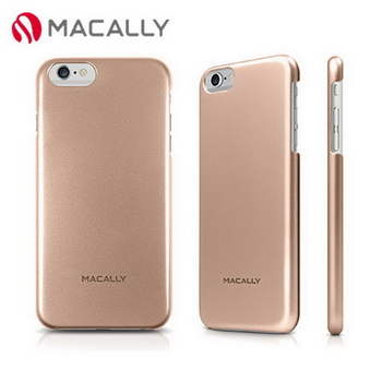 【Macally】iPhone 6Plus(5.5)金屬質感防護背蓋-金(SNAPP6LCH)