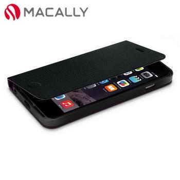 【Macally】iPhone 6(4.7)側翻可站立式皮套-黑(FOLIOP6MB)