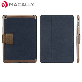 【Macally】iPad Air扣帶式可站立保護套-藍(BSTANDPA5BL)