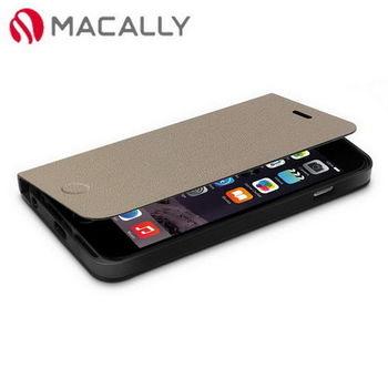 【Macally】iPhone 6(4.7)側翻可站立式皮套-棕(FOLIOP6MBE)