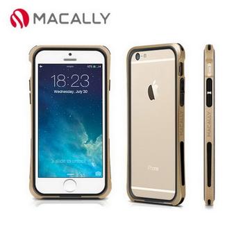 【Macally】iPhone 6(4.7)防摔金屬質感邊框-金(IRONP6MCH)