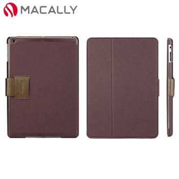 【Macally】iPad Air扣帶式可站立保護套-酒紅(BSTANDPA5PU)