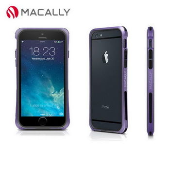 【Macally】iPhone 6(4.7)防摔金屬質感邊框-紫(IRONP6MPU)