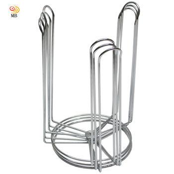 月陽台灣製造三叉鐵線鍍鉻碗架整理架瀝水架超值3入(741330)