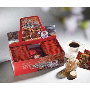 《山海觀咖啡莊園》二合一即溶咖啡30入x5(盒裝)