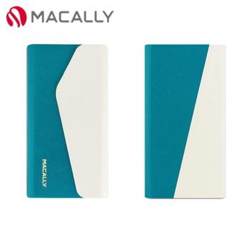 【Macally】iPhone 5C側翻式可旋轉立架保護皮套-白(WALLETP6W)
