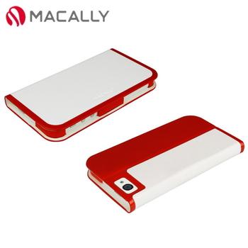 【Macally】iPhone 5/5S時尚翻蓋皮套-紅色(SLIMCOVER5R)