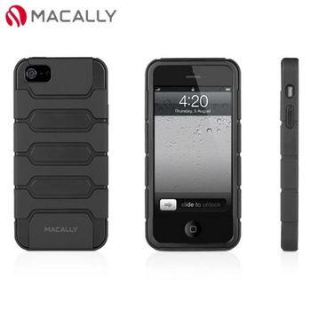 【Macally】iPhone 5/5S多功能腰夾站立式保護套-黑(TANK5B)