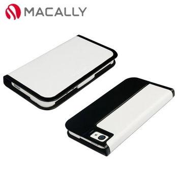 【Macally】iPhone 5/5S時尚翻蓋皮套-白色(SLIMCOVER5W)