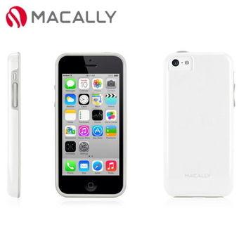 【Macally】iPhone 5C絢麗雙色軟質TPU保護套殼-白(FLEXFITP6W)