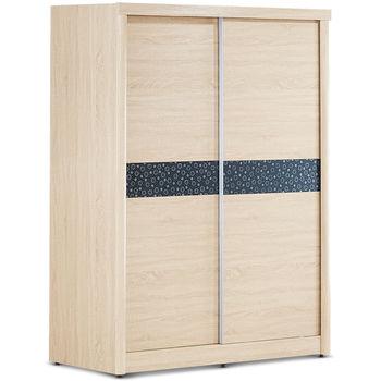 【日式量販】淺調印花設計5尺衣櫃