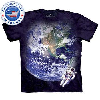 【摩達客】預購-美國進口The Mountain Smithsonian系列鳥瞰地球 純棉環保短袖T恤(男)