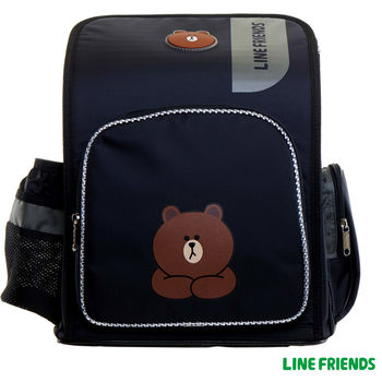 【LINE FRIENDS】MIT舒壓護脊雙層書背包(A款_無辜熊大)
