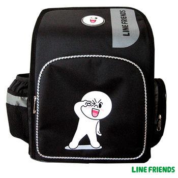 【LINE FRIENDS】MIT舒壓護脊雙層書背包(B款_饅頭人)