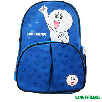 【LINE FRIENDS】護脊雙層書背包(B款_加油!饅頭人)