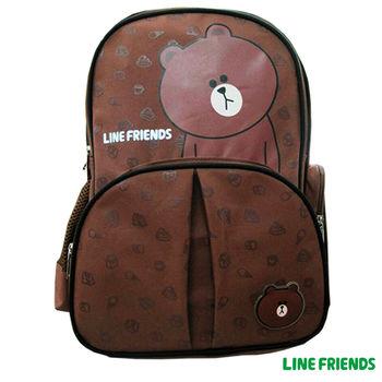 【LINE FRIENDS】護脊雙層書背包(A款_無辜熊大)